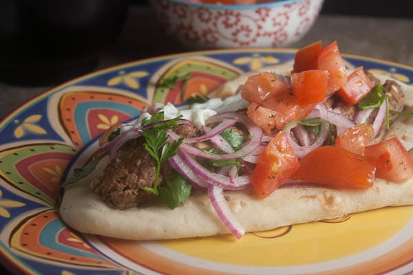 lamb in pita
