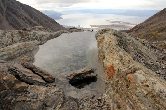 Glacial pond in Ushuaia, Tierra del Fuego