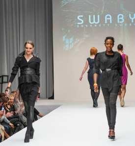 Designer Shernett Swaby (on right) for Swaby