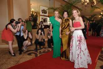 Co-chairs Veronique Bushala, Lisa Bailey, honorary co-chair Betsey N. Pinkert with paparazzi
