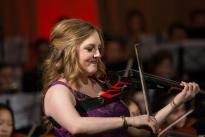Rachel Barton Pine performs at CYSO's 70th Anniversary Celebration | Photo by Elliot Mandel