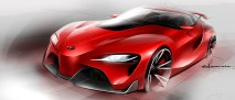 Toyota FT-1 concept sketch 01