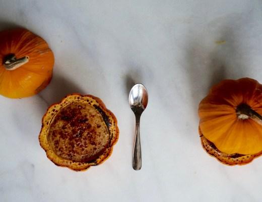 Maple Pumpkin Custard IN a Pumpkin!