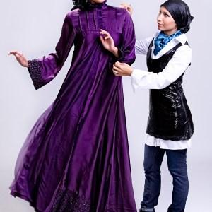 Designer Seema Sahin with Model Ana Maria Lawson - Copy (1)