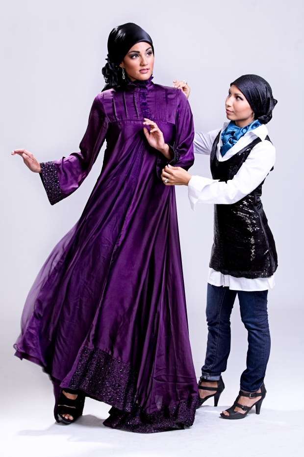 Designer Seema Sahin with Model Ana Maria Lawson - Copy (1)