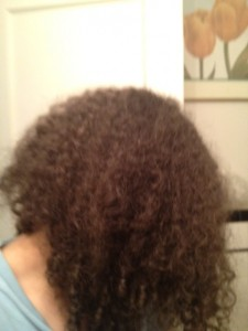 Curly Hair Before Flat Iron