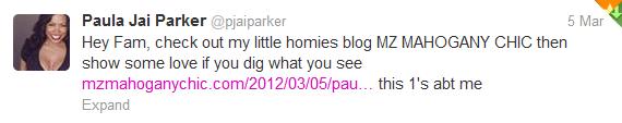Paula Jai Parker Tweets