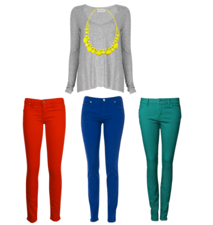 Neon With Colored Jeans