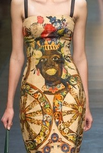 D&G Black Face Dress