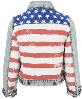 MOTO American Flag Denim Jacket