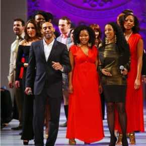 "Broadway Stars in Support of ""Broadway Sings for Pride"" performing at Couture Fashion Week Fall 2013"