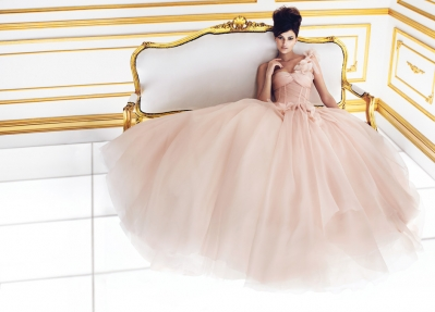 Ines DiSanto Colored Wedding Gown