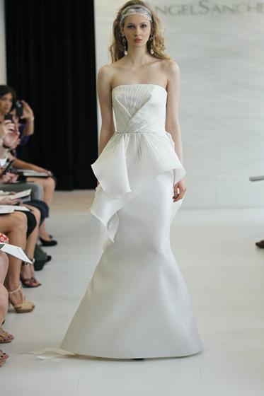 Angel Sanchez Peplum Gown