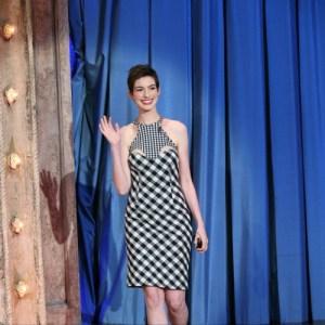 Anne Hathaway Stella Gingham dress