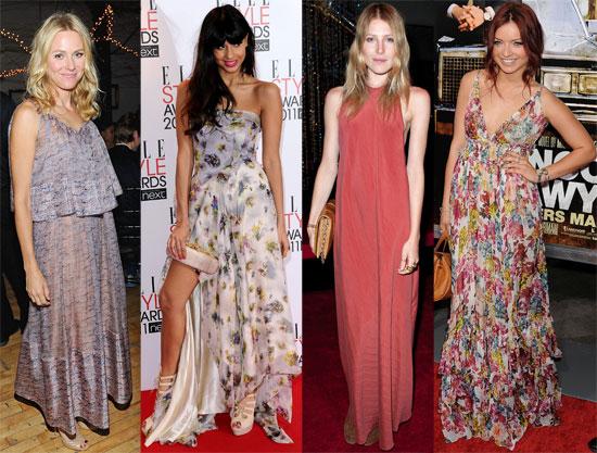 Celebrity Maxi Dress Style