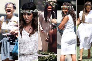 Kim Kardashian (Middle) Baby Shower Guests