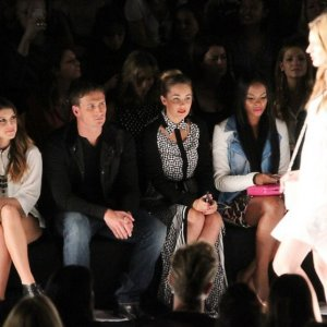 Ryan Lochte at fashion show during fashion week