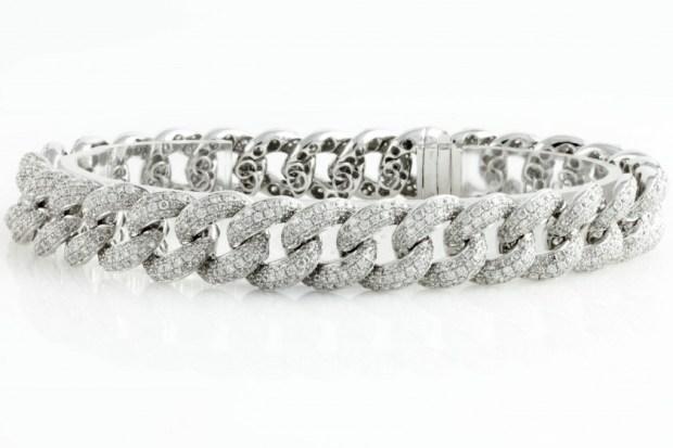 Silver Cuban link men's bracelet
