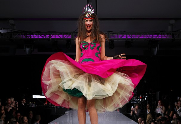 Model in Betsey Johnson NYFW show
