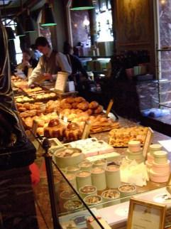 Laduree's desserts on display