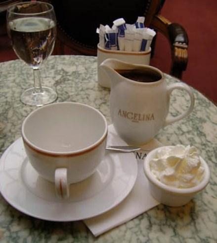 Hot chocolate at Angelina