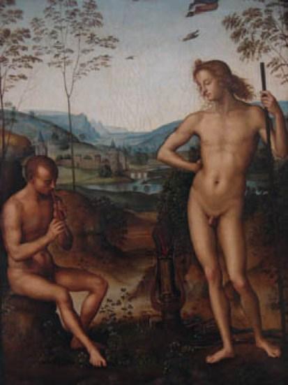 Apollon et Marsyas, by Pietro di Cristoforo (Perugin)