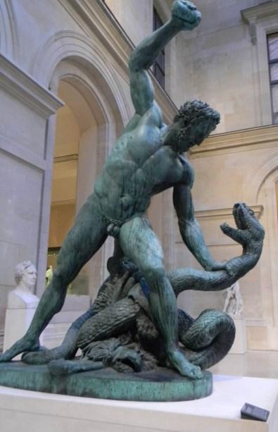 Hercule Combattant Achelous Metamorphose en Serpent, by Francois-Joseph Bosio