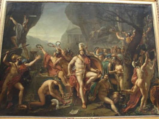 Leonidas at Thermopylae, by Jacques-Louis David