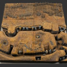 scale model of a trench