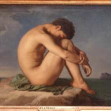 Jeune Homme Nu Assis au Bord de la Mer