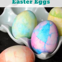 Easy Tie Dye Easter Eggs