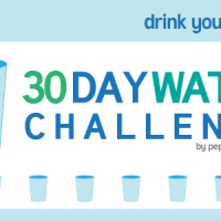 30 day Water Challenge - 64 oz a day
