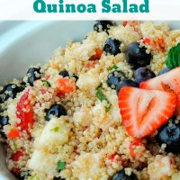Red, White & Blue Quinoa Salad | Perfect for the Fourth Of July