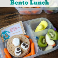 Easy Easter Bunny Bento Lunch {How To Video}