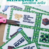Free Printable Minecraft Lunchbox Notes