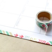 Step: 9: Make sure washi tape is sealed on both sides. You can use your nail to push out bubbles.