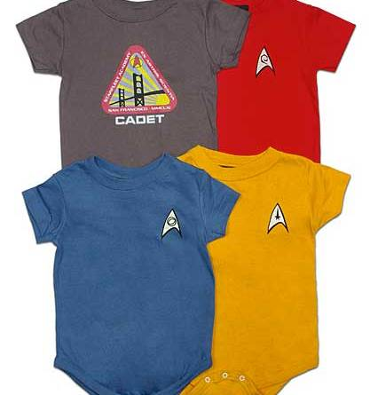 Star Trek Uniform creepers from ThinkGeek