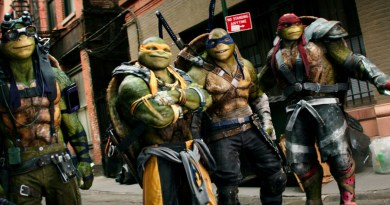 Left to right: Donatello, Michelangelo, Leonardo and Raphael in Teenage Mutant Ninja Turtles: Out of the Shadows from Paramount Pictures, Nickelodeon Movies and Platinum Dunes Productions