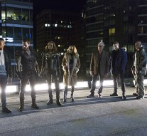 "DC's Legends of Tomorrow -- ""Pilot, Part 1"" -- Image LGN101d_0406b -- Pictured (L-R): Franz Drameh as Jefferson ""Jax"" Jackson, Falk Hentschel as Carter Hall/Hawkman, Ciara Renee as Kendra Saunders/Hawkgirl, Caity Lotz as Sara Lance, Victor Garber as Professor Martin Stein, Wentworth Miller as Leonard Snart/Captain Cold, Dominic Purcell as Mick Rory/Heat Wave and Brandon Routh as Ray Palmer/Atom -- Photo: Jeff Weddell/The CW -- © 2015 The CW Network, LLC. All Rights Reserved."