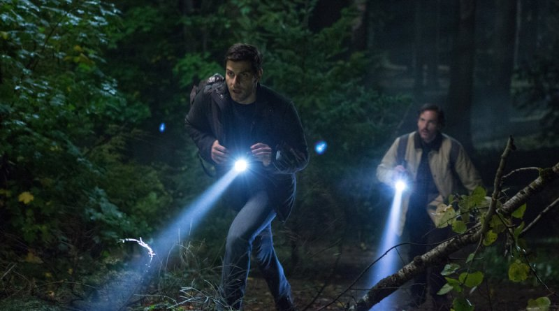 "GRIMM -- ""Key Move"" Episode 511 -- Pictured: (l-r) David Giuntoli as Nick Burkhardt, Silas Weir Mitchell as Monroe -- (Photo by: Scott Green/NBC)"