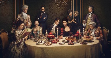 The cast of Outlander, Season 2 in all their finery.