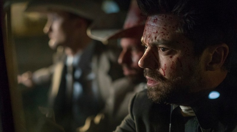 Tom Brooke as Fiore, Anatol Yusef as DeBlanc, Dominic Cooper as Jesse Custer- Preacher _ Season 1, Episode 5 - Photo Credit: Lewis Jacobs/Sony Pictures Television/AMC