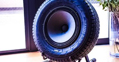 Upcycled Tire Speakers from Japan