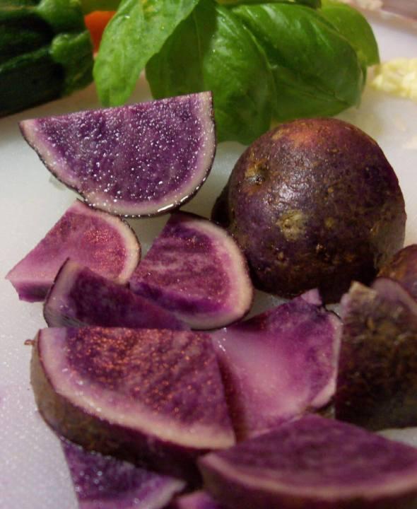 purple potato, purple potatoes, fried potatoes, Peru, Peruvian purple potatoes, side dish, brunch, Tropical, TropicsGourmet