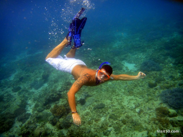 Snorkeling in the Philippines near the Island of Malapascua