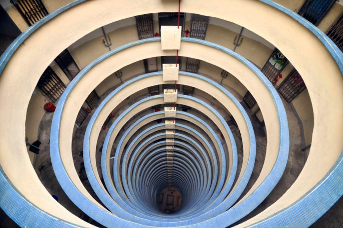 This photo reminds me of the Guggenheim museum in NYC, but it's actually French photographer Romain Jacquet-Lagrèze's photo from Hong Kong in his Vertical Horizon project