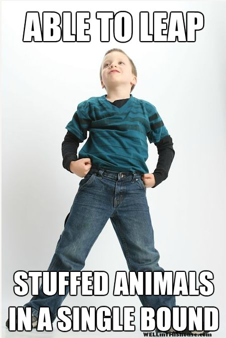 Super TJ - Able to Leap Stuffed Animals in a Single Bound