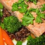 Orange Salmon with Rice