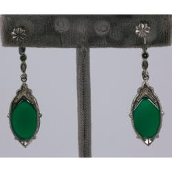 Sunshiny Sale At Art Deco Jewelry Box Art Deco Jewelry Los Angeles Green Onyx Earrings Marcasite Articulated Earrings By This Company Manufactured Deco Marcasite Art Deco