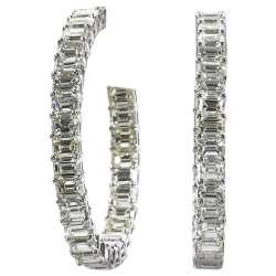 Small Of Diamond Hoop Earrings